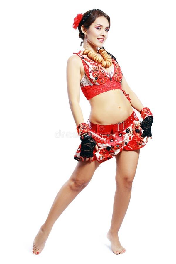 Danza balcánica fotos de archivo