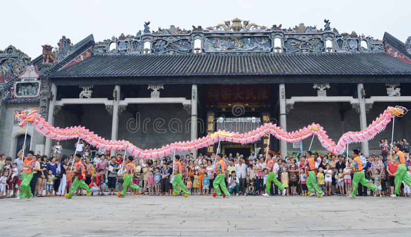 Danza china del dragón imagen de archivo