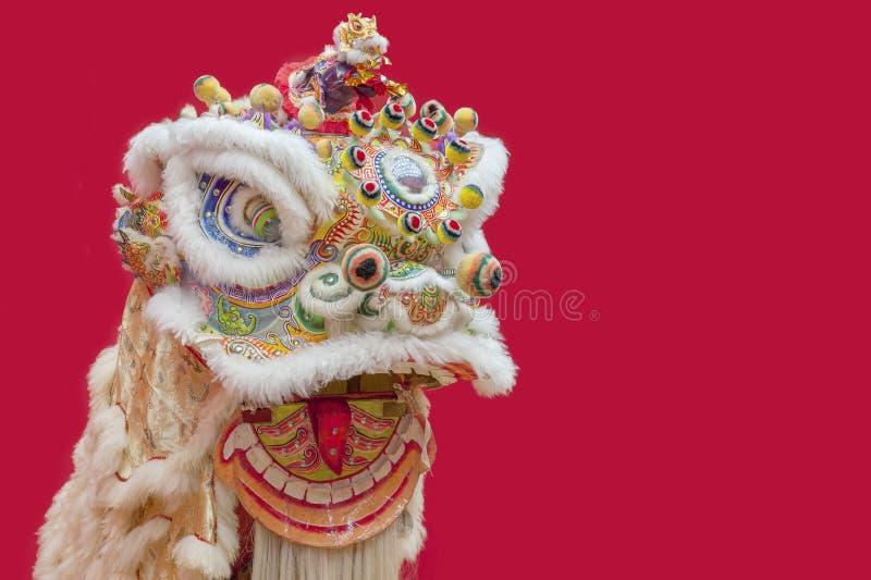 Danza china del león imagenes de archivo