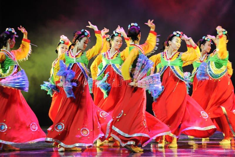 Danza colectiva---Danza coreana foto de archivo libre de regalías