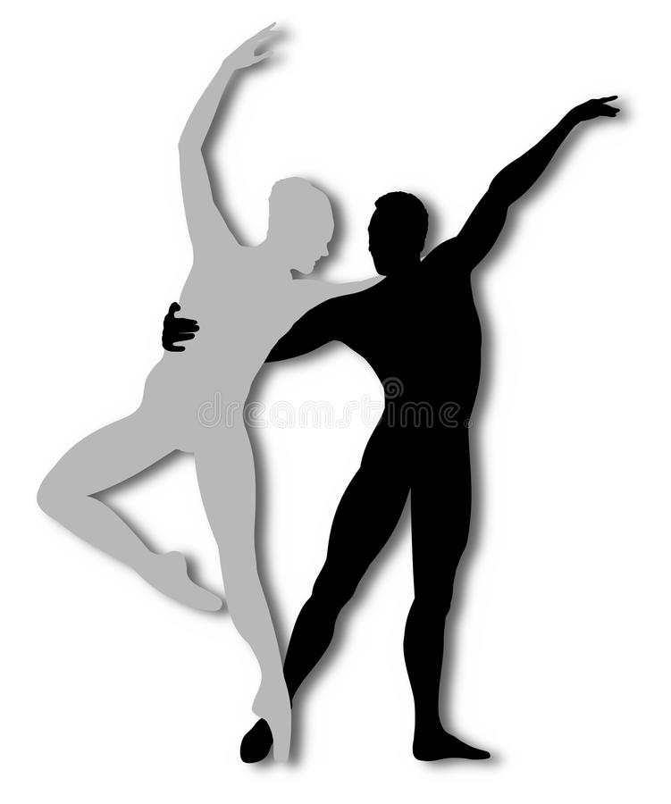 Danza contemporánea stock de ilustración