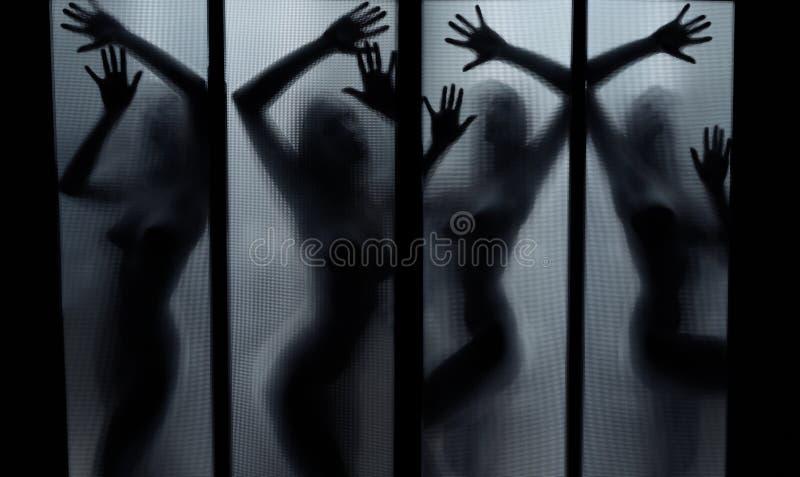Danza de fantasmas imagen de archivo libre de regalías
