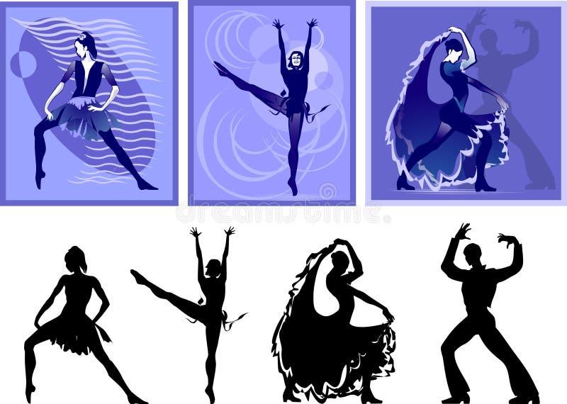 Danza de la gente stock de ilustración
