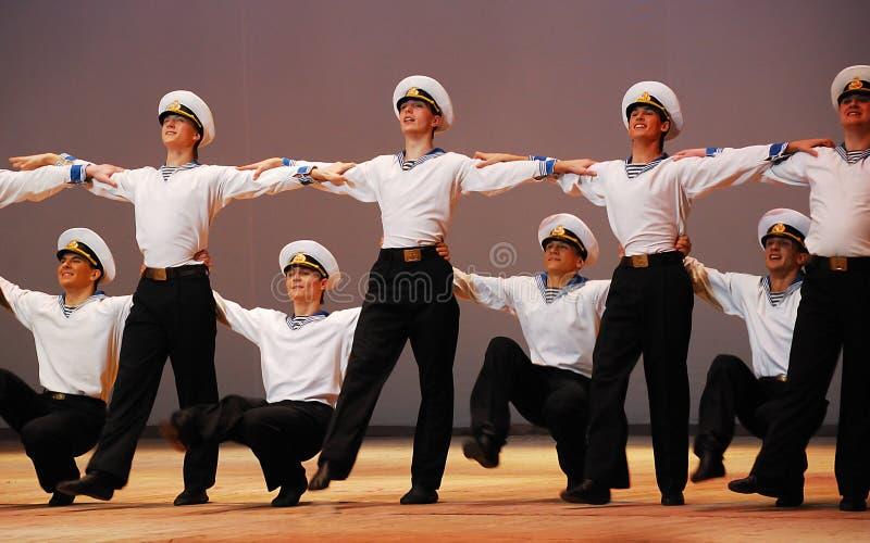 Danza de la mar-gente imágenes de archivo libres de regalías