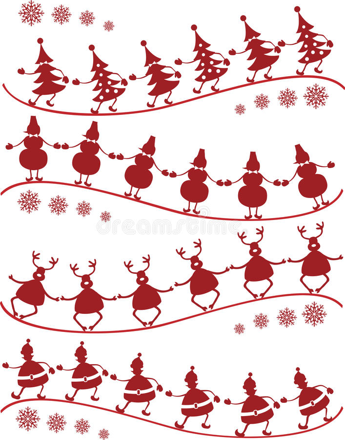 Danza de la Navidad ilustración del vector