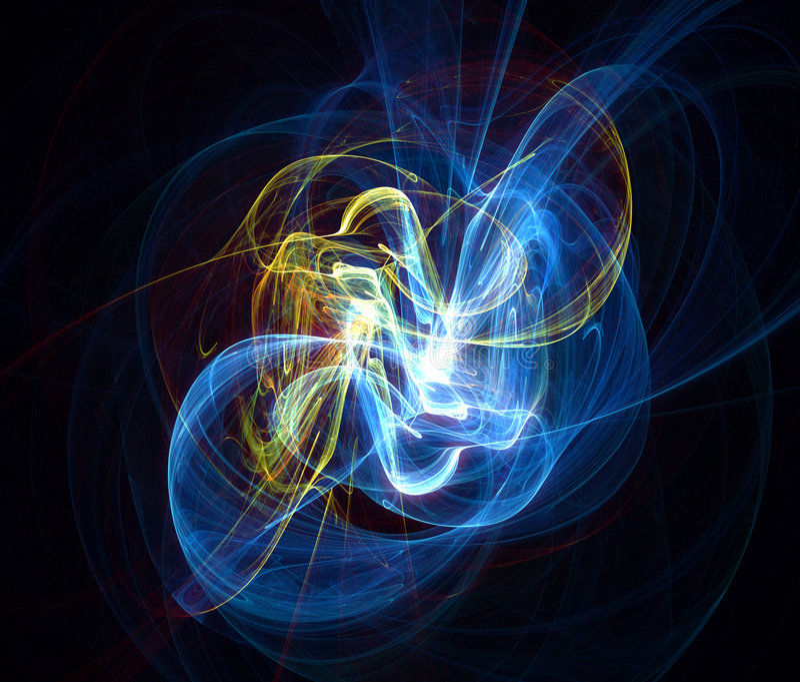Danza de la onda eléctrica stock de ilustración