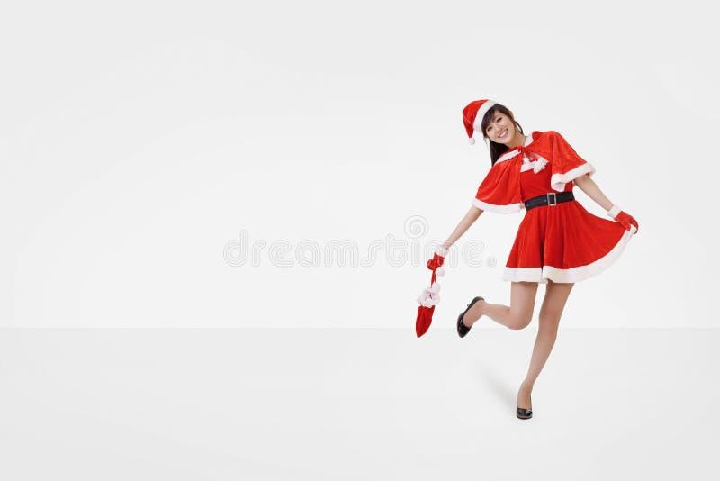 Danza de la señora de la feliz Navidad imagen de archivo libre de regalías