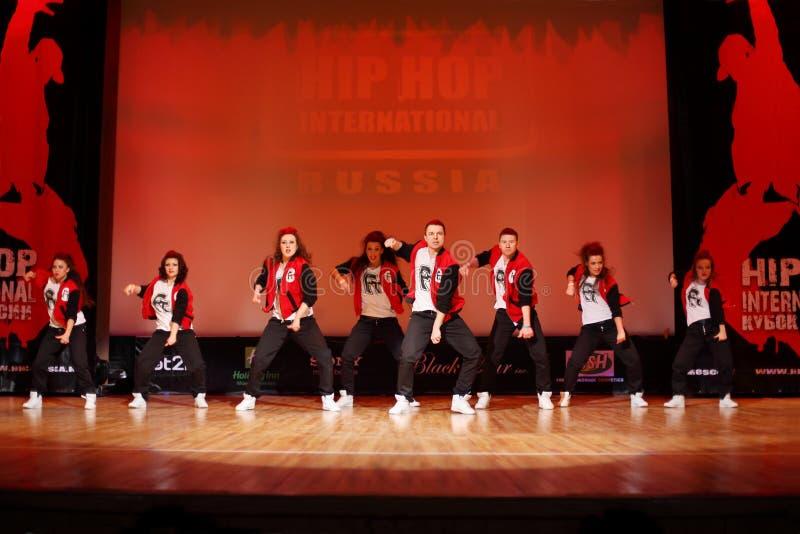 danza de las F-personas en la taza del International de Hip Hop fotografía de archivo