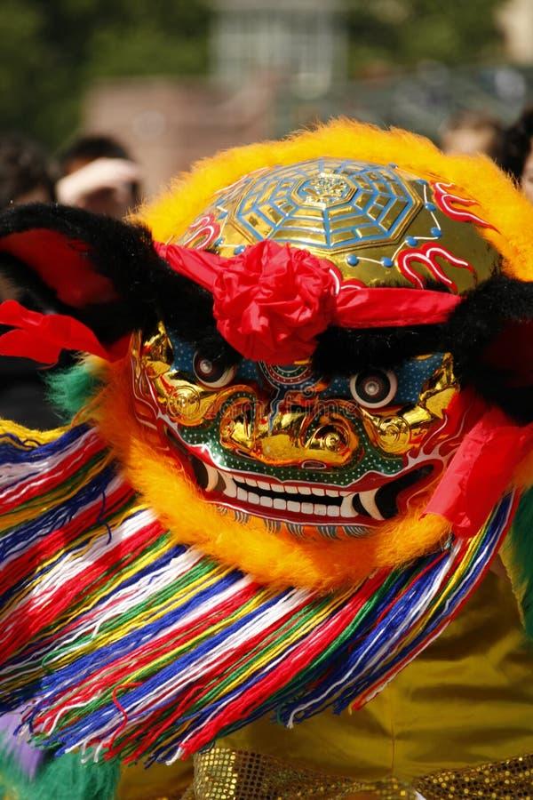 Danza de león china fotos de archivo