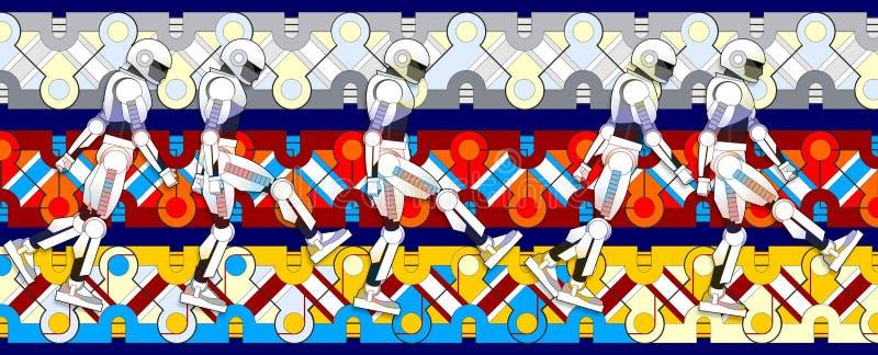 Danza de los robots imagen de archivo libre de regalías