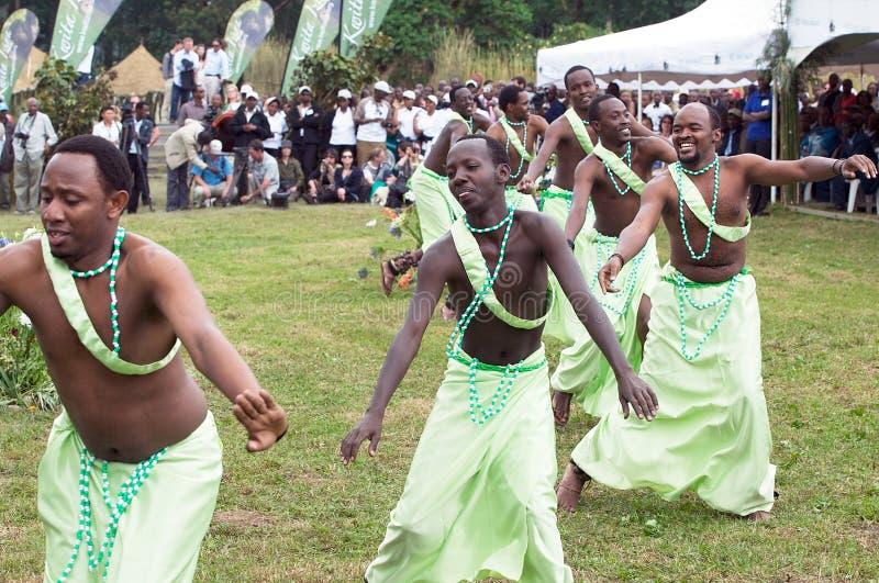 Danza de Rwanda imagenes de archivo