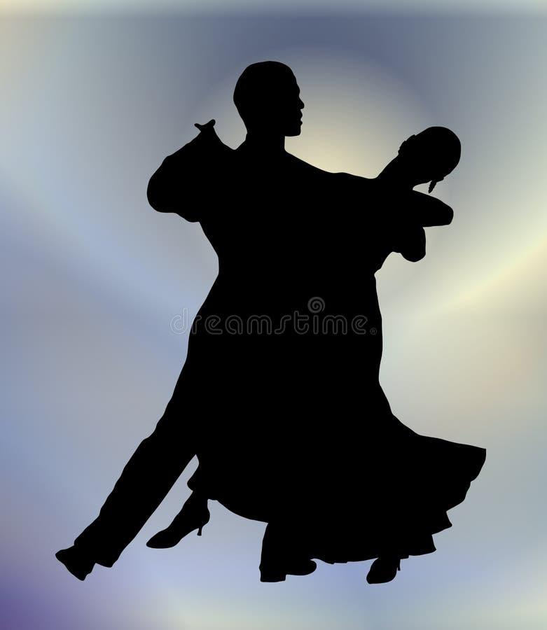 Danza de salón de baile 1 stock de ilustración