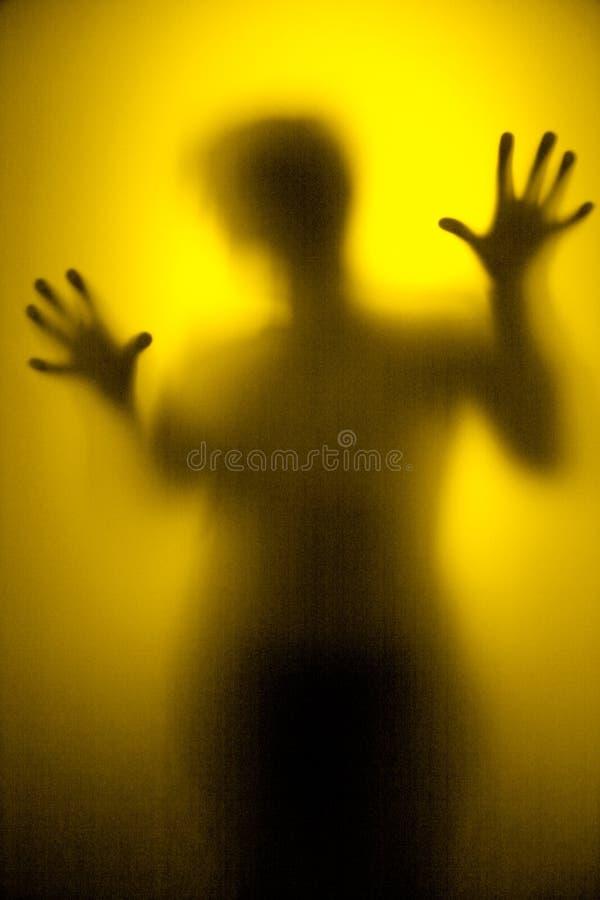 Danza de sombra de oro foto de archivo libre de regalías