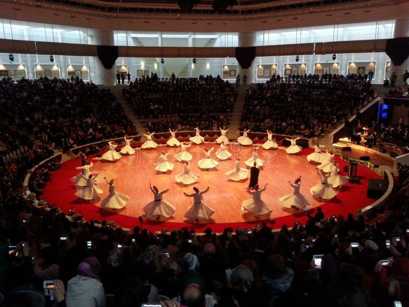 Danza de Sufi, Mevlana, Rumi, semazen/KONYA imágenes de archivo libres de regalías
