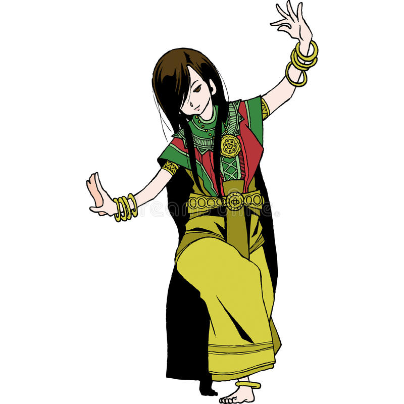 Danza de Tailandia stock de ilustración