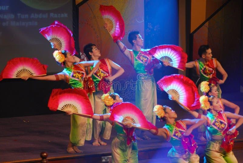Danza de ventilador china foto de archivo libre de regalías