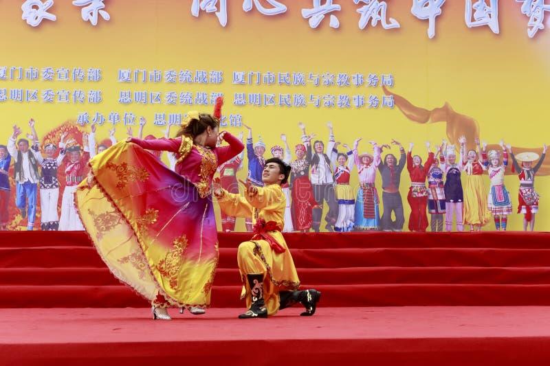 Danza de Xinjiang - amante fotos de archivo