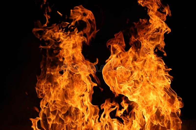 Danza del fuego del campo foto de archivo