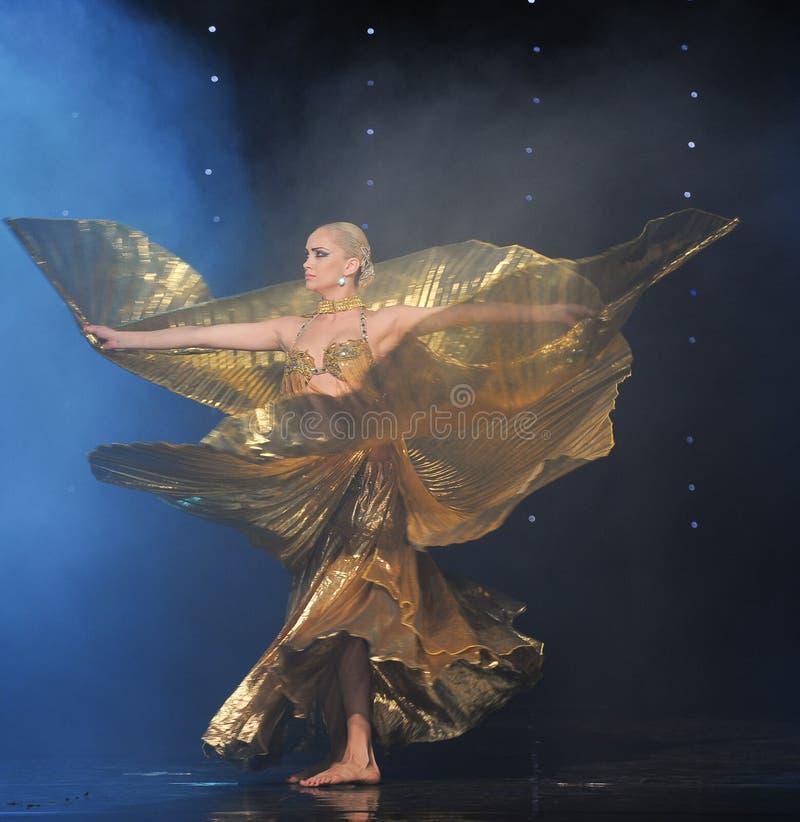 Danza del mundo de Eagle-Turquía del vientre de Austria de oro de la danza- fotografía de archivo libre de regalías