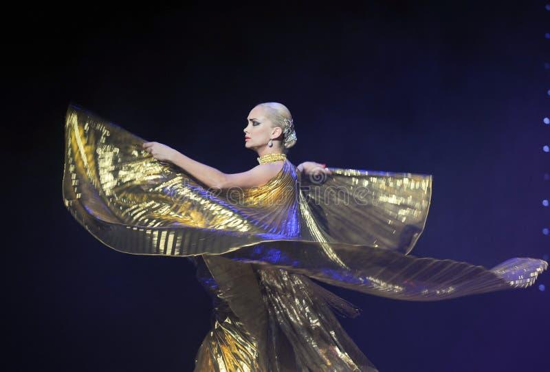 Danza del mundo de Eagle-Turquía del vientre de Austria de oro de la danza- imagen de archivo libre de regalías