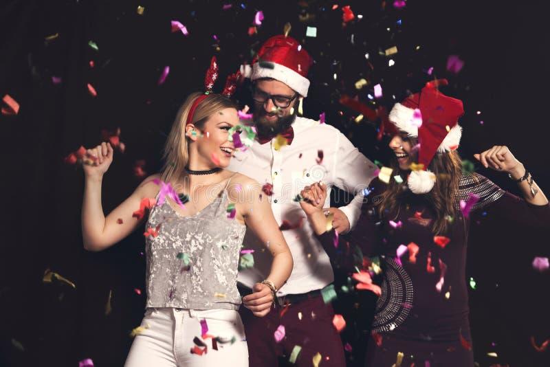 Danza del partido del ` s Eve del Año Nuevo fotos de archivo libres de regalías