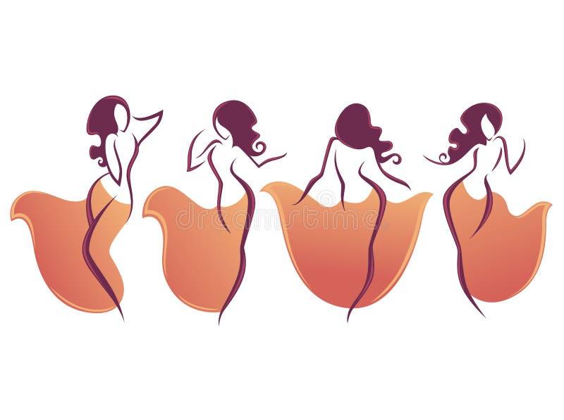 Danza del ventre royalty illustrazione gratis