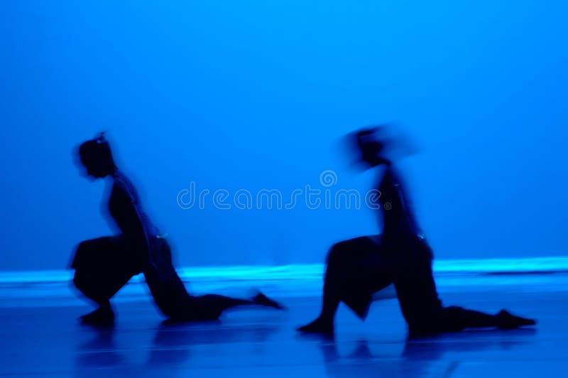 Danza en azul imagenes de archivo