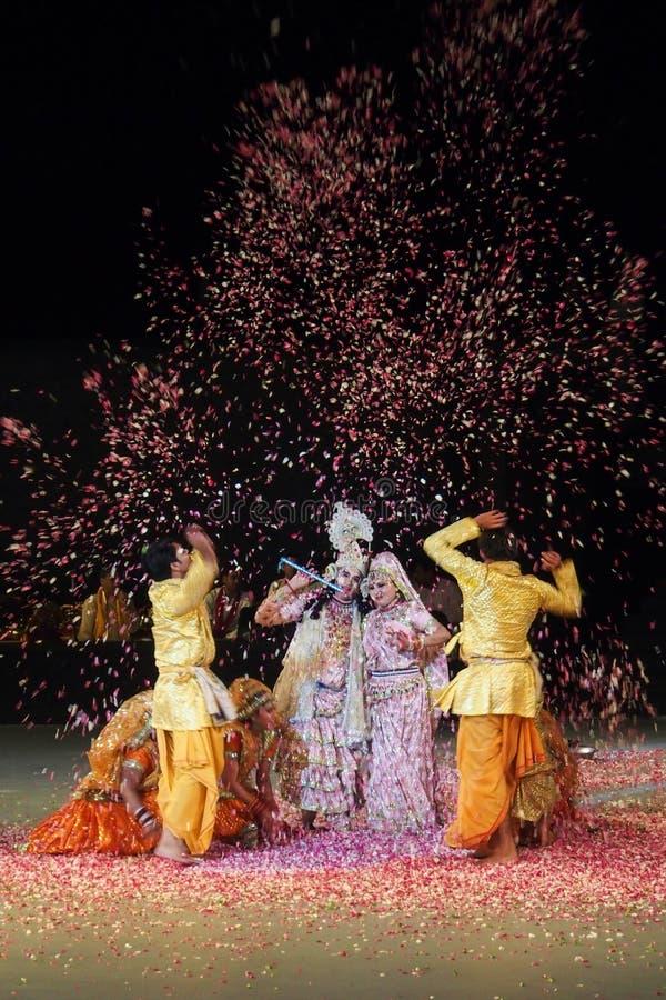 Danza la India de Holi imagen de archivo libre de regalías