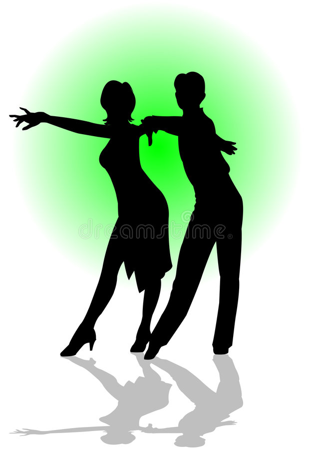 Danza latina stock de ilustración
