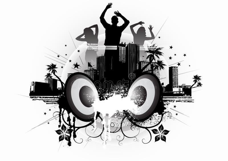 Danza urbana del vapor ilustración del vector