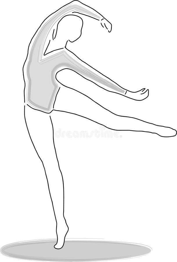 Danzatore 2/eps illustrazione di stock