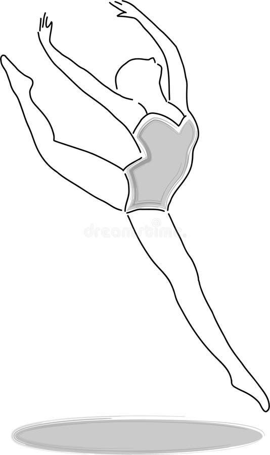 Danzatore 3/eps illustrazione vettoriale