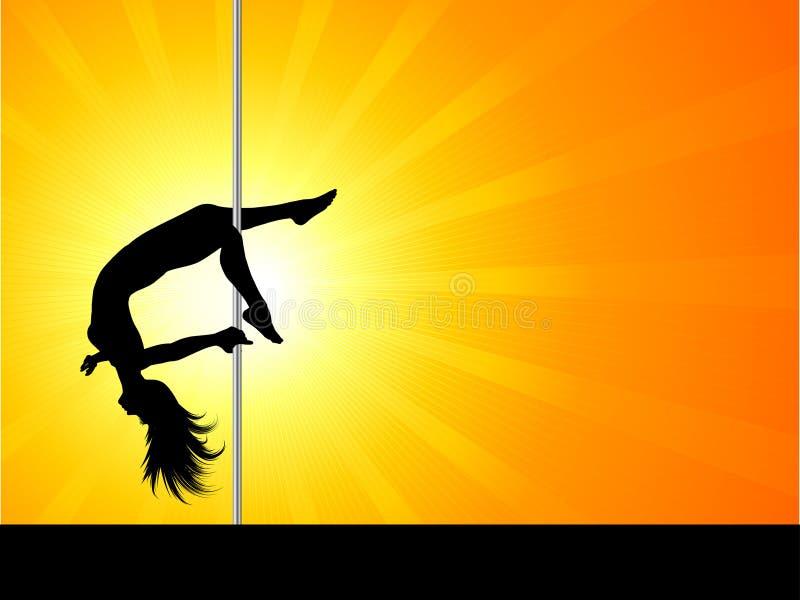 Danzatore acrobatico del palo royalty illustrazione gratis