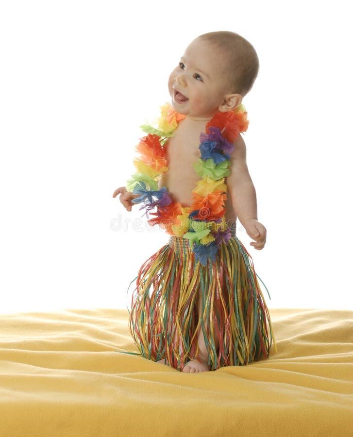 Danzatore adorabile di hula del bambino fotografia stock libera da diritti
