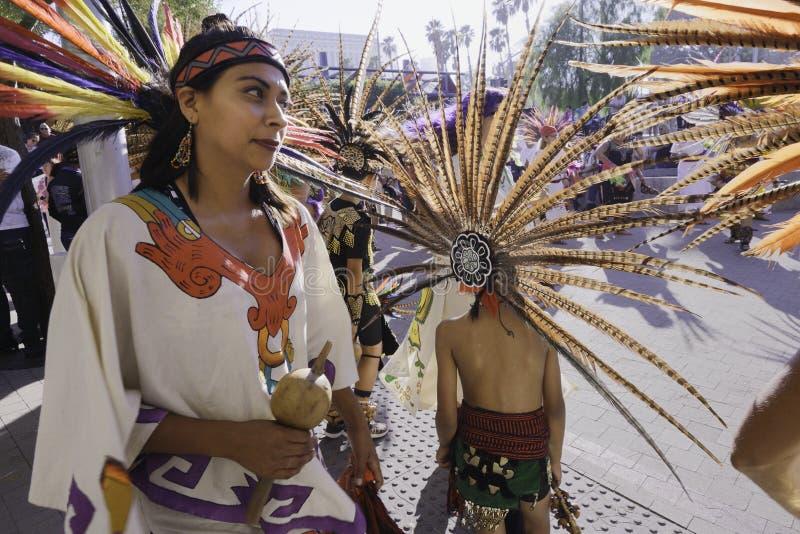 Danzatore azteco fotografia stock libera da diritti