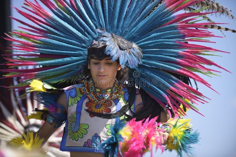 Danzatore azteco immagine stock libera da diritti