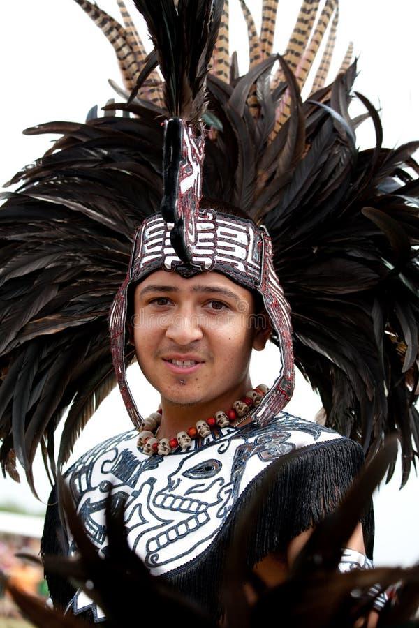 Danzatore azteco immagini stock libere da diritti