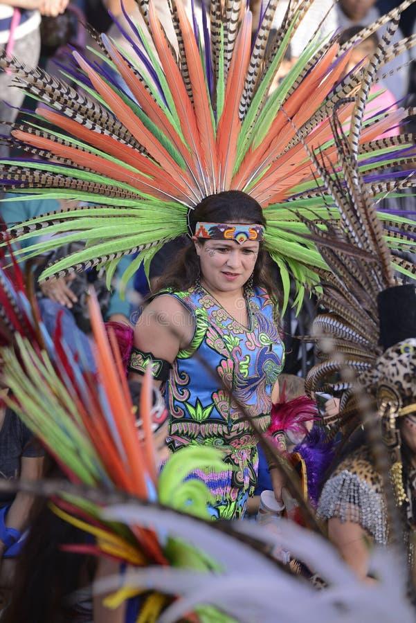 Danzatore azteco immagini stock