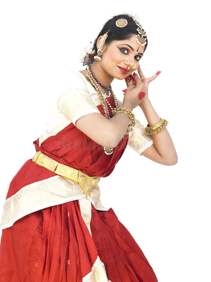 Danzatore classico dall'India fotografia stock libera da diritti