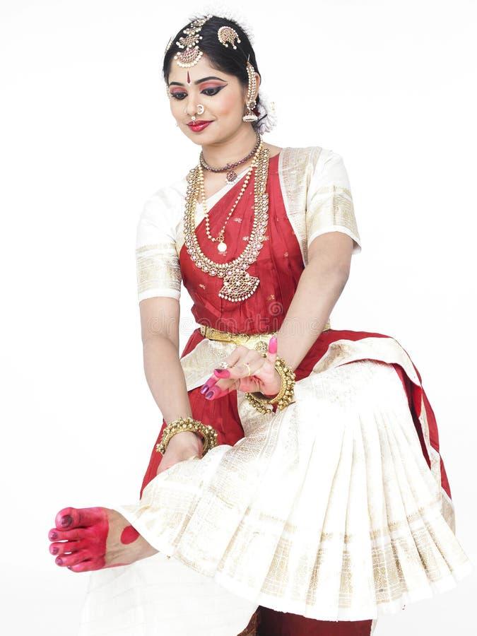 Danzatore classico dall'India immagini stock libere da diritti