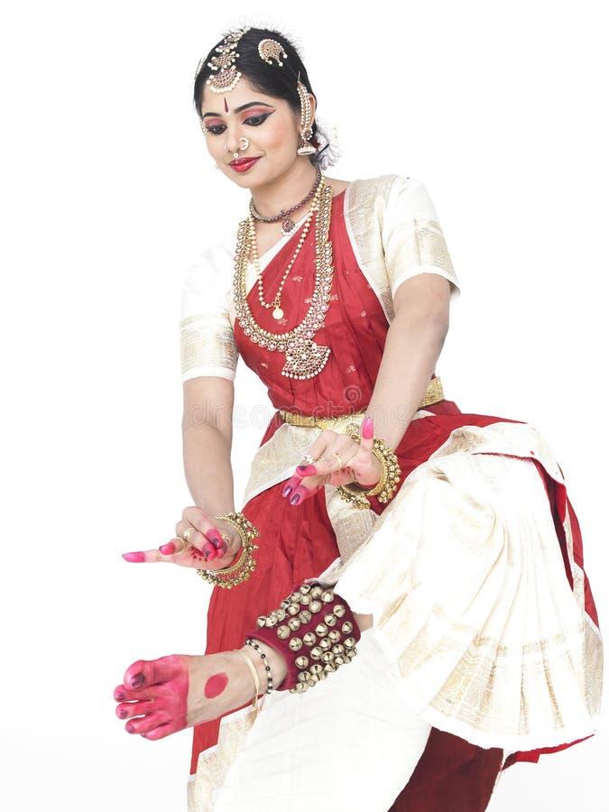 Danzatore classico dall'India fotografie stock libere da diritti
