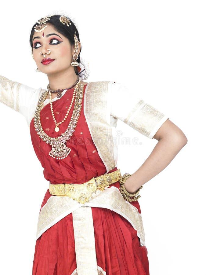 Danzatore classico dall'India fotografia stock