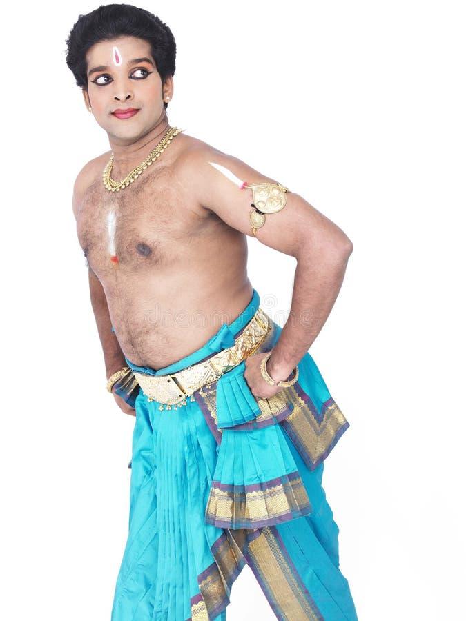 Danzatore classico maschio dall'Asia immagini stock