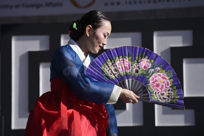 Danzatore coreano immagini stock libere da diritti