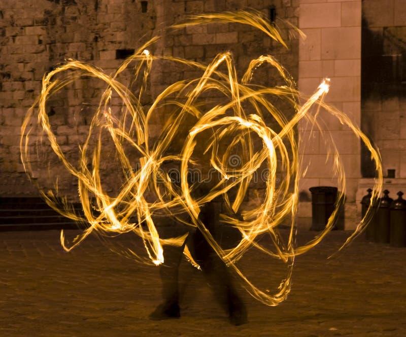 Danzatore del fuoco immagini stock libere da diritti