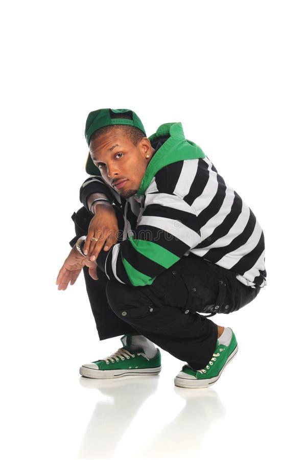 Danzatore dell'afroamericano di Hip Hop fotografie stock