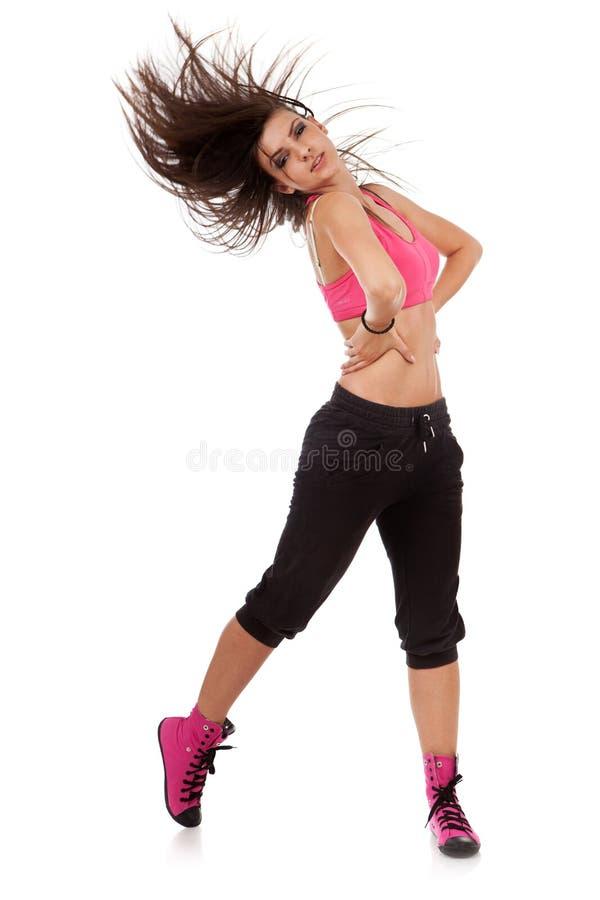 Danzatore Della Giovane Donna Che Propone Con I Suoi ...