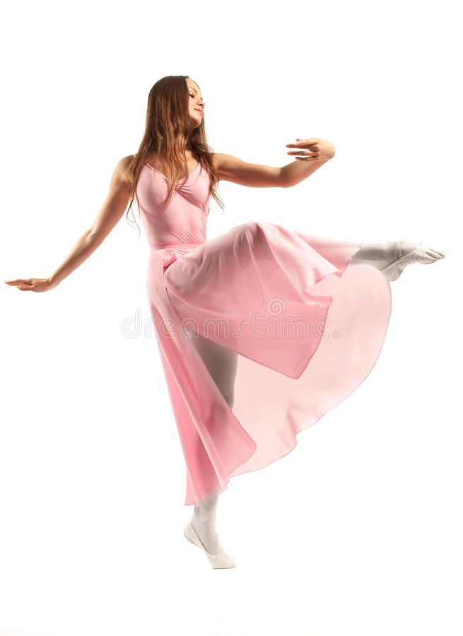 Danzatore di balletto femminile fotografia stock libera da diritti