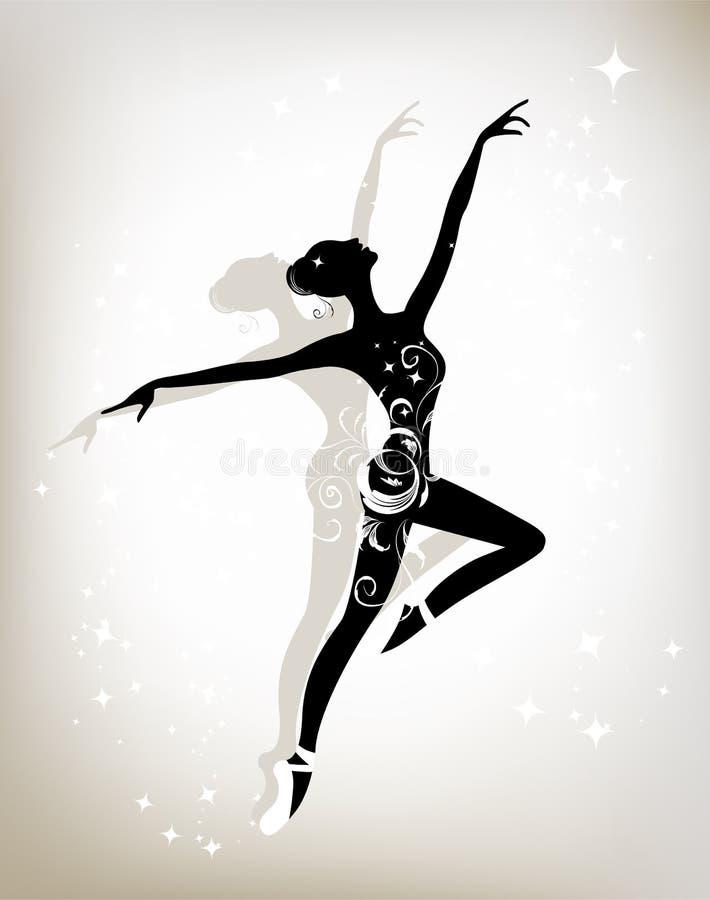 Danzatore di balletto per il vostro disegno royalty illustrazione gratis