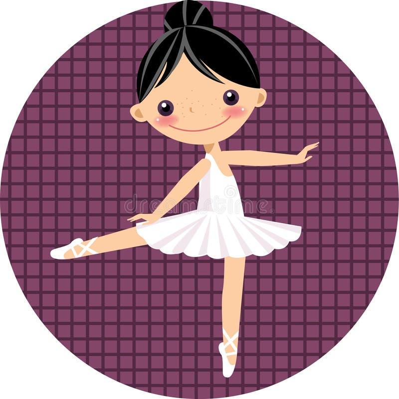 Danzatore di balletto sveglio, ragazza illustrazione di stock